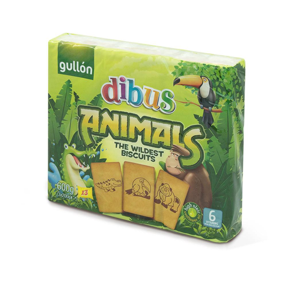 Печиво GULLON Dibus ANIMALS, 600г (14шт)