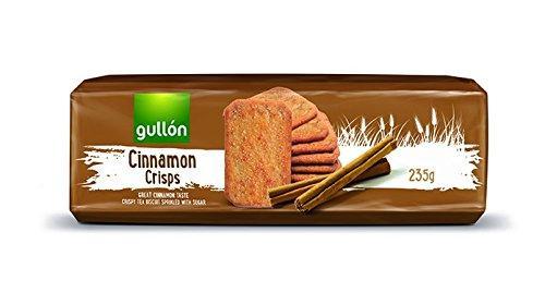 Печиво GULLON Cinnamon crisps, хрустке печиво з корицею, 235г, 15шт/ящ