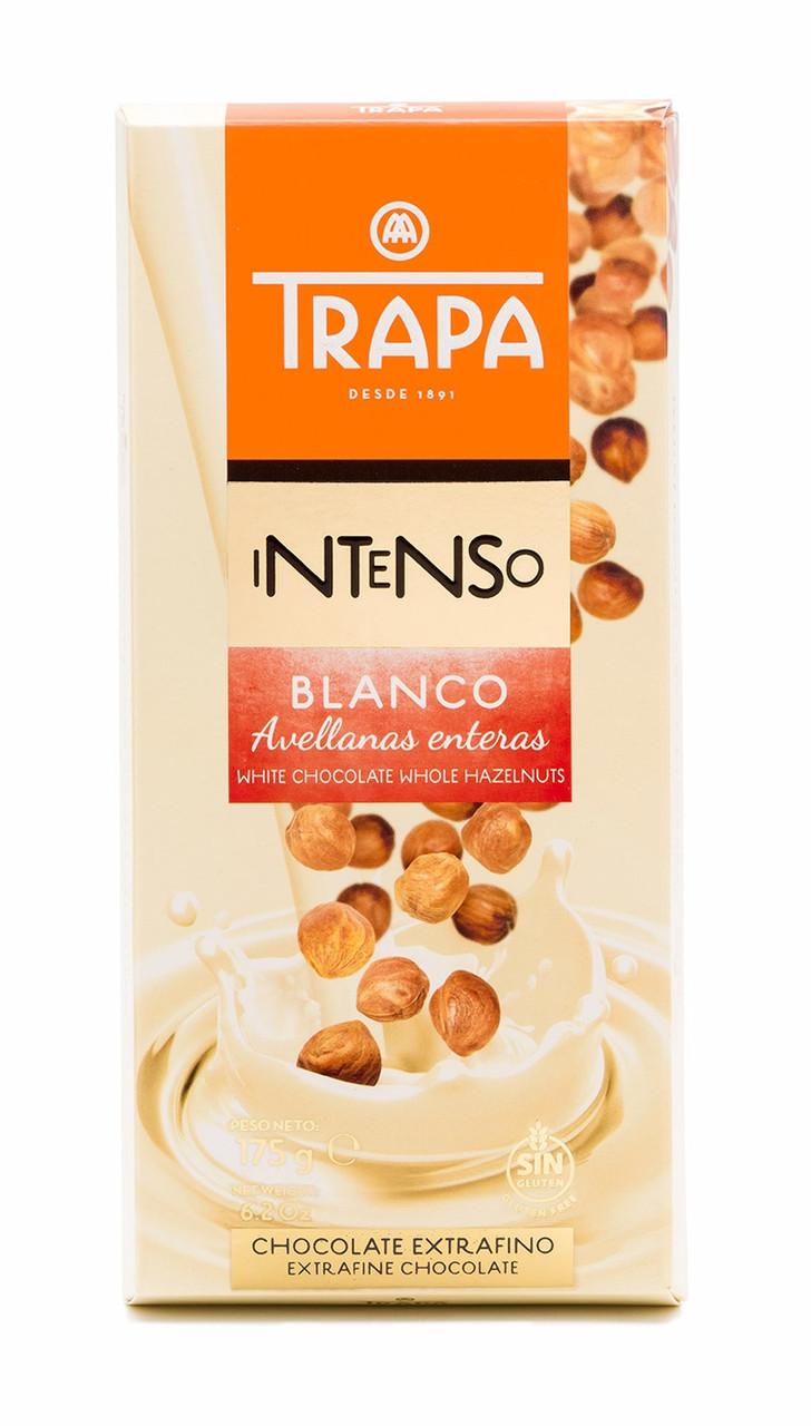 TRAPA шоколад, INTENSO, 175г, білий, з фундуком, 17шт/ящ 023209