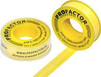 Фум-лента 19мм х 0.25мм,  15м х 0.3г желтая газ,вода  PRO Factor