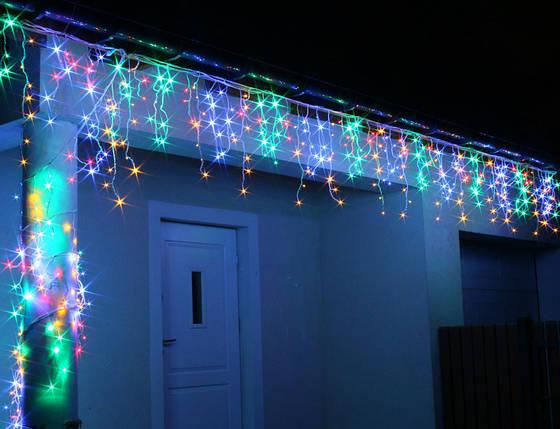 Новогодняя гирлянда Бахрома 200 LED, Разноцветный свет 7 м, фото 2