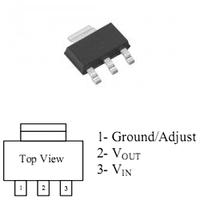 Линейный стабилизатор AMS1117 3.3В 1A
