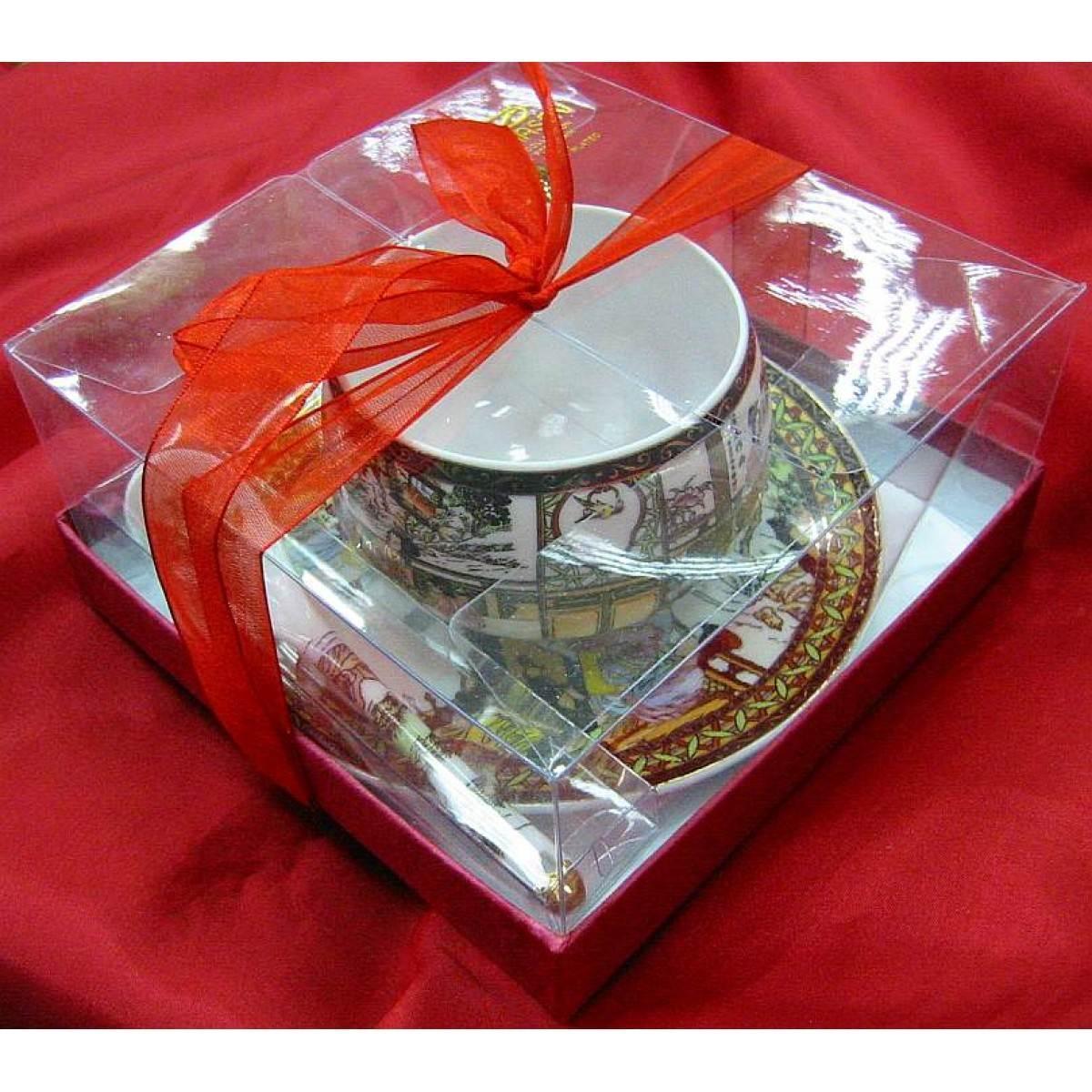 Набор чашка и блюдце фарфор Живопись