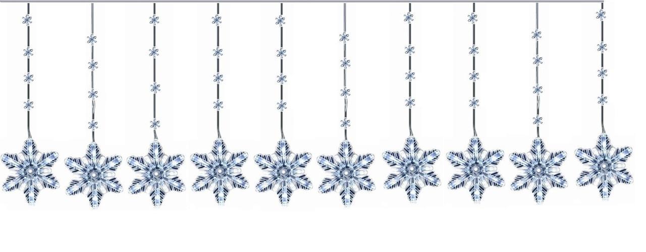 "Новогодняя гирлянда ""Снежинки"" 100 LED, 4 Метра"