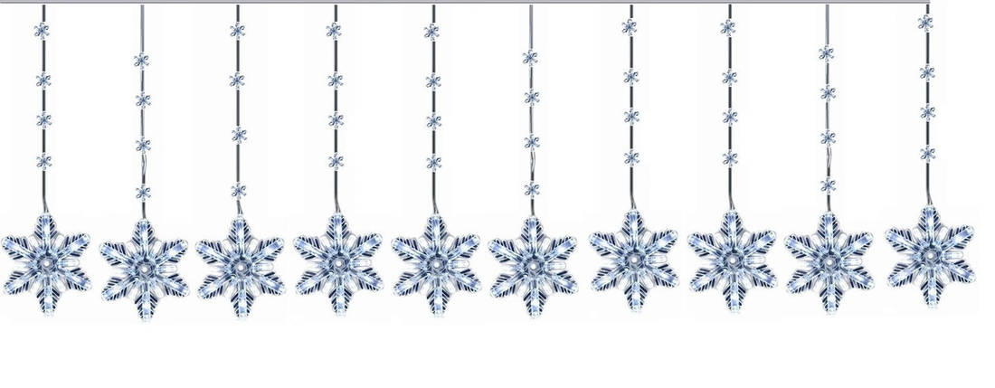 "Новогодняя гирлянда ""Снежинки"" 100 LED, 4 Метра, фото 2"