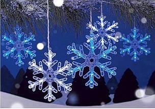 "Новогодняя гирлянда ""Снежинки"" 100 LED, 4 Метра, фото 3"