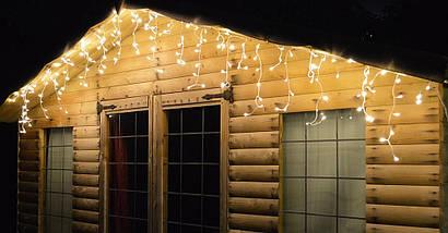 Новогодняя гирлянда Бахрома 300 LED, Белый теплый свет 12 м + Пульт , фото 3