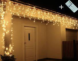 Новогодняя гирлянда Бахрома 300 LED, Белый теплый свет 13 M + Пульт , фото 2