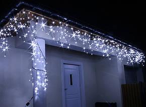 Новогодняя гирлянда Бахрома 200 LED, 7 м, Кабель 3,5 мм, Диод 8 мм, Цвет на выбор, фото 2