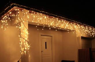 Новогодняя гирлянда Бахрома 200 LED, 7 м, Кабель 3,5 мм, Диод 8 мм, Цвет на выбор, фото 3