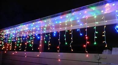 Новогодняя гирлянда Бахрома 500 LED, Разноцветный свет 24 м, 22,5W, фото 2