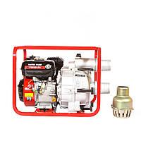 Мотопомпа бензиновая WEIMA WMPW80-26 для грязной воды (78 куб.м/час)
