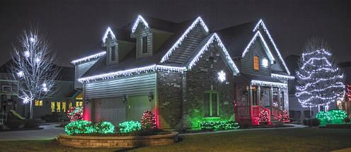 Новогодняя гирлянда Бахрома 500 LED, Белый холодный свет 22,5W, 24 м + Ночной датчик, фото 3
