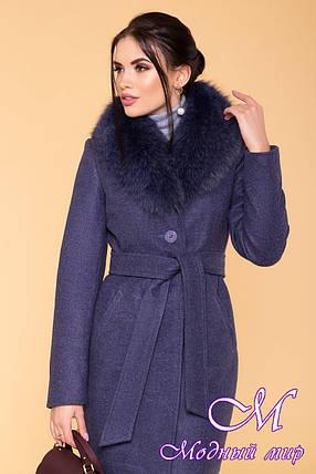 Красивое женское зимнее пальто с мехом (р. S, М, L) арт. Камила 5611 - 40798, фото 2