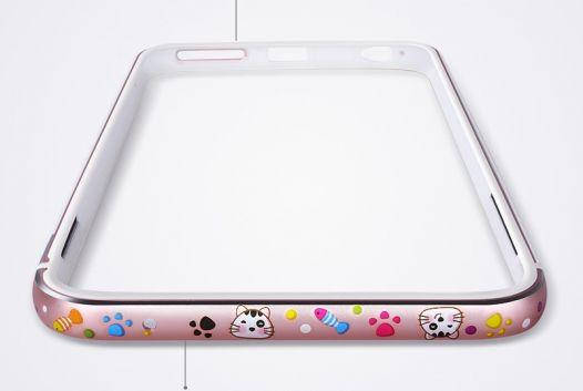 "Металлический бампер Lofter Cutie Series для Apple iPhone 7 / 8 (4.7""), фото 2"