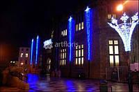 Новогоднее оформление фасадов, украшение елки, деревьев, разработка проекта, монтаж, гарантия