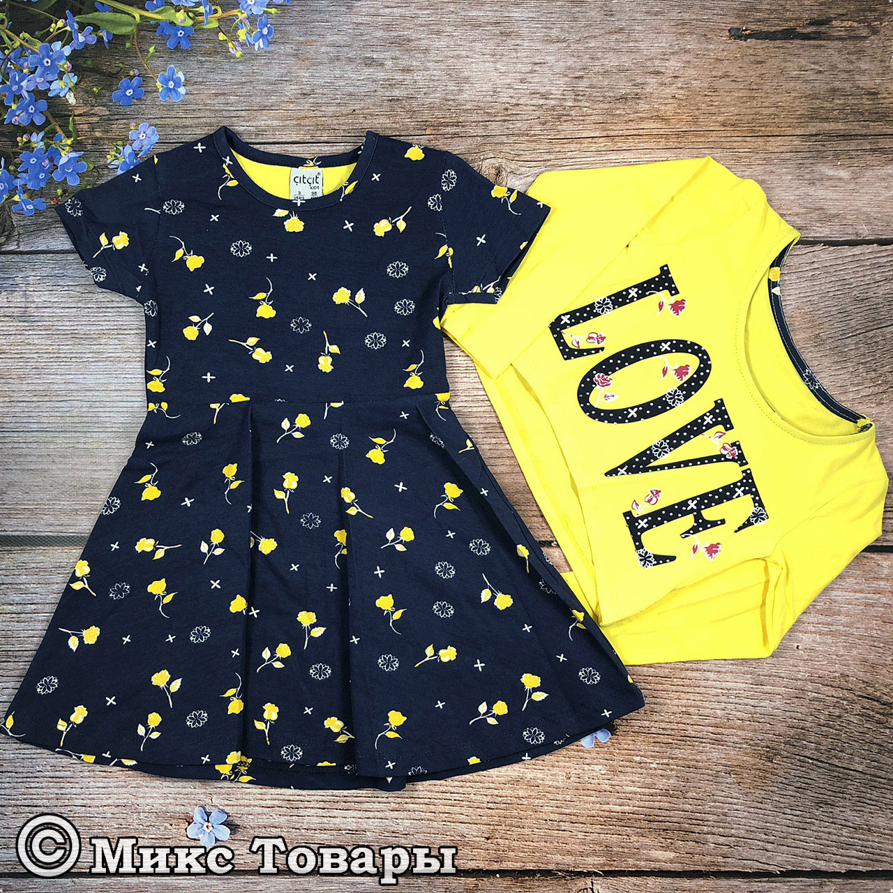 Платье с коротким рукавом + болеро для девочки Рост: 98,104,110,116 см (7674-1)