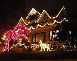 Новогодняя гирлянда 100 LED,Белый теплый, Длина 8 Метров, фото 2