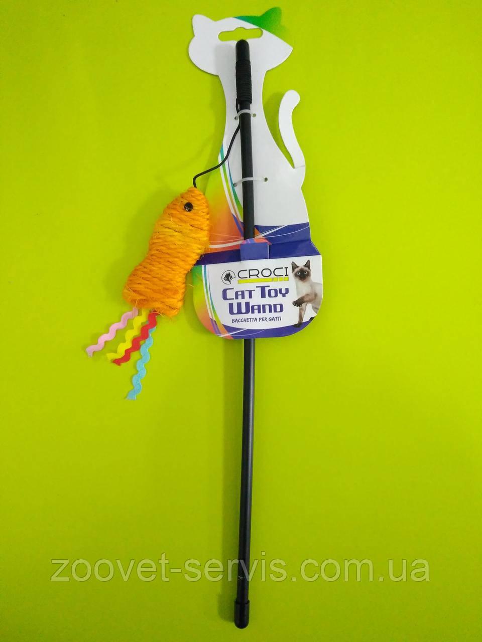 Игрушка для кота дразнилка рыбка сизаль CROCI С6098088