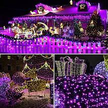 Новогодняя гирлянда 100 LED,Розовый , Длина 8 Метров, фото 3