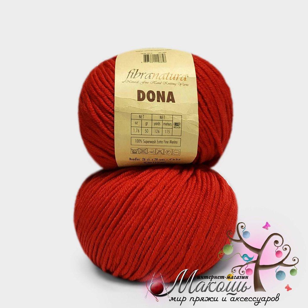 Пряжа Dona Донна Фибранатура, 106-07, красный