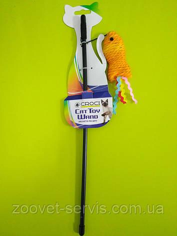 Игрушка для кота дразнилка рыбка сизаль CROCI С6098088, фото 2