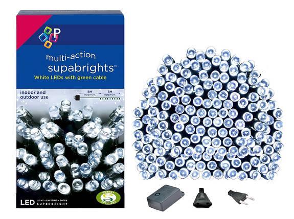 Новогодняя гирлянда 200 LED, Длина 16m, Белый холодный свет, фото 2
