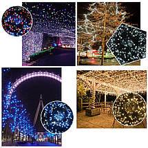 Новогодняя гирлянда 200 LED, Длина 16m, Белый холодный свет, фото 3