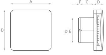 Габаритные размеры осевого вентилятора O.ERRE ALBA