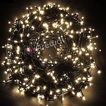Новогодняя гирлянда 100 LED, Длина 8M, Белый холодный свет,кабель 2,2 мм, фото 3