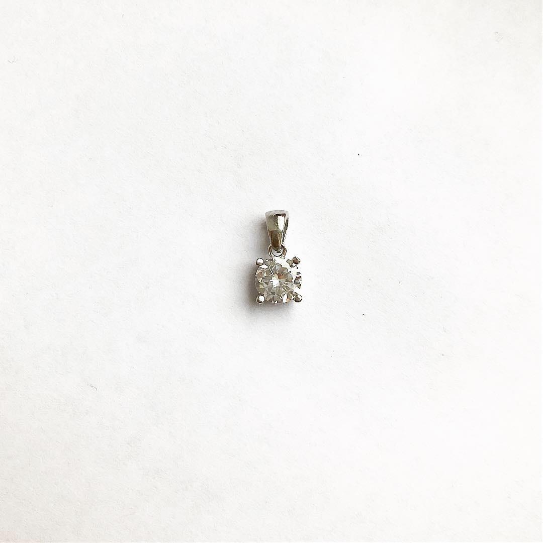 Підвіска з срібла Мої прикраси круглий камінь Swarovski