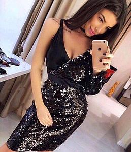 Платье паетки бархат 514 42-46