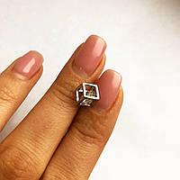Подвеска из серебра Мої прикраси куб Swarovski