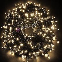 Новогодняя гирлянда 300 LED, IP44, Длина 24 М, Белый теплый свет, фото 2