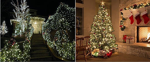 Новогодняя гирлянда 300 LED, IP44, Длина 24 М, Белый теплый свет, фото 3