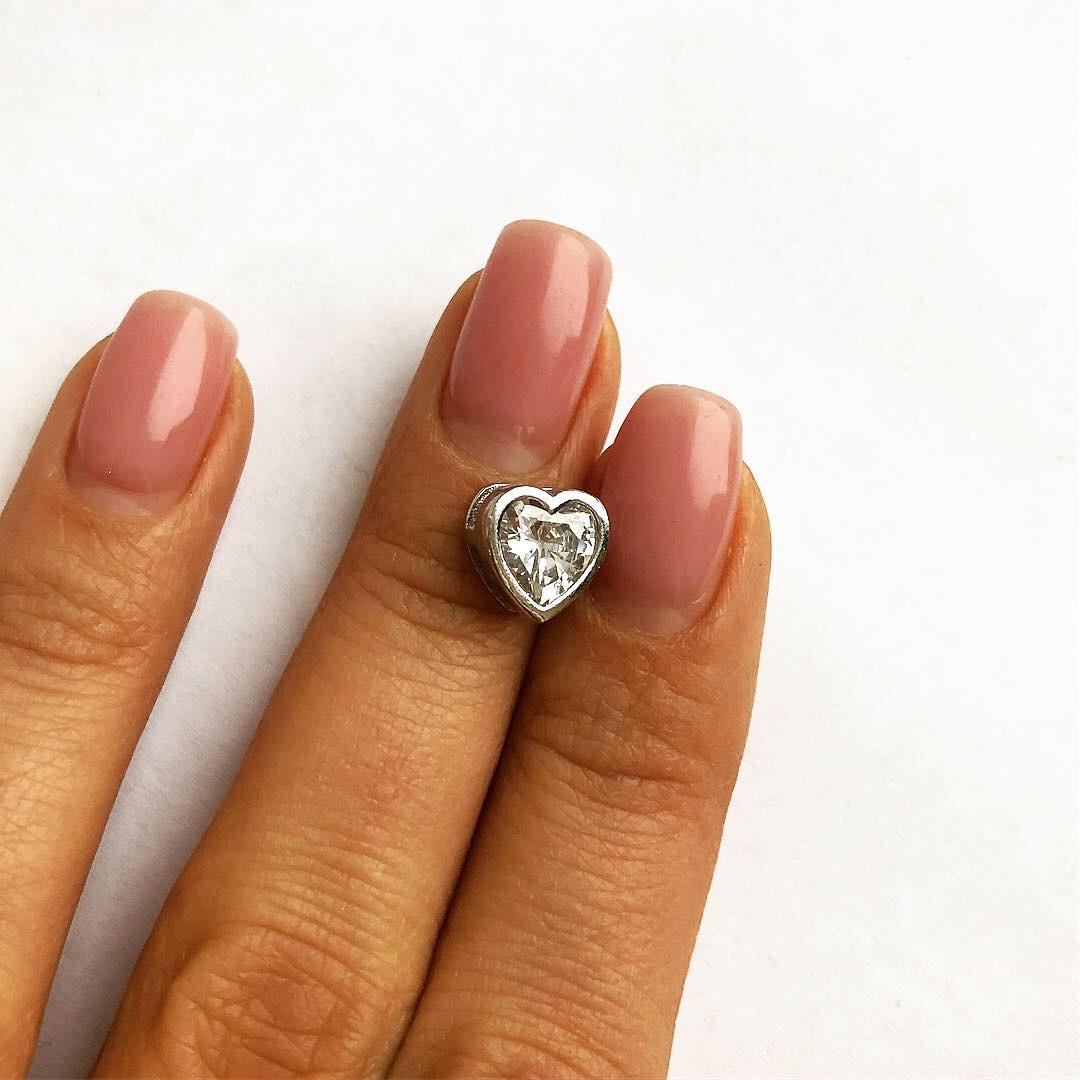 Подвеска из серебра Мої прикраси сердце Swarovski