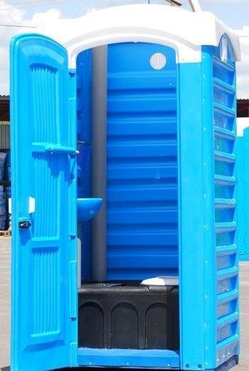 Биотуалет с баком 250 литров туалет уличный, кабина автономная, мобильная без умывальной раковины