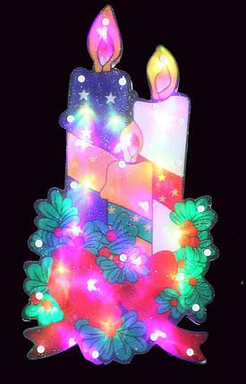 """Новогодняя скульптура """"Свеча"""" 24 LED, фото 2"""