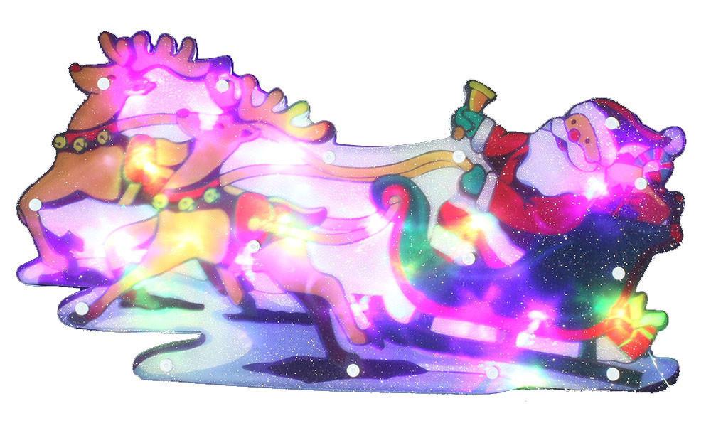 "Новогодняя скульптура ""Дед Мороз и сани"" 24 LED"