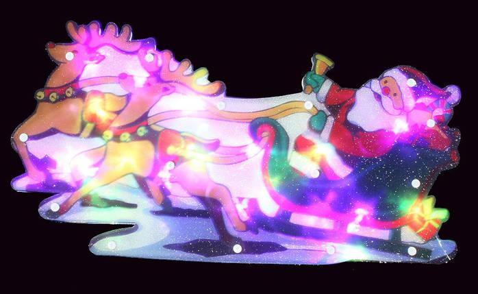 "Новогодняя скульптура ""Дед Мороз и сани"" 24 LED, фото 2"
