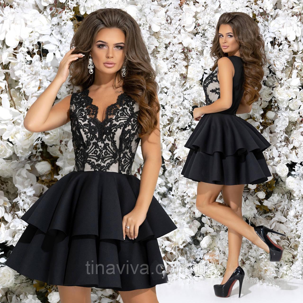 """Женское нарядное  платье с кружевом и пышной юбкой """"Юлианна"""" (жіноче плаття )  5 цветов"""
