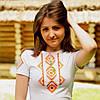 Вышитая футболка орнамент ромб с вышивкой на рукаве | Вишита футболка орнамент ромб з вишивкою на рукаві
