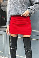 Женская теплая юбка из шерсти 4320 (р.42-48) красная, фото 1