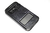 Кожаный чехол книжка для HTC Desire 616 черный, фото 1