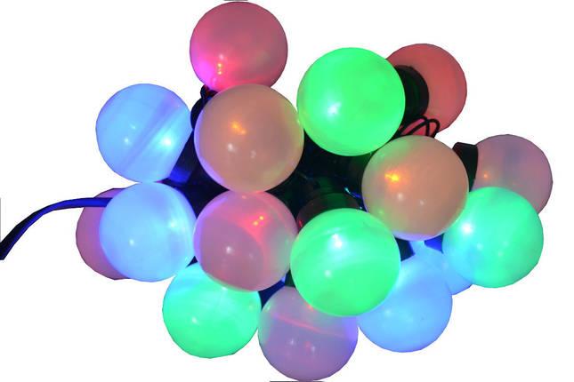 Новогодняя гирлянда 20LED, Длина 4m, Разноцветный свет, фото 2