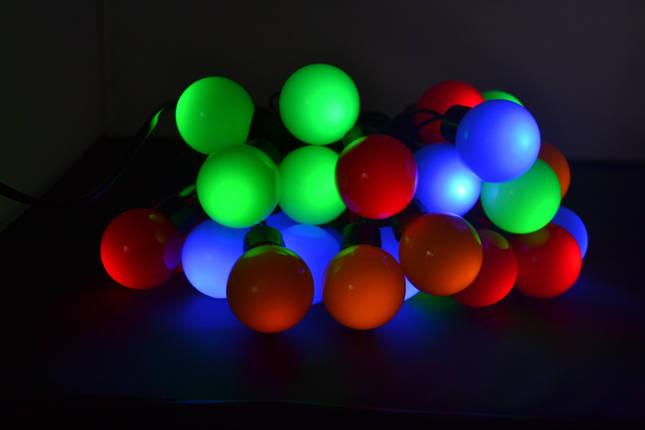 Новогодняя гирлянда 30 LED, Разноцветный свет, фото 2