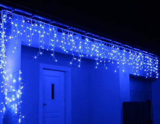 Новогодняя гирлянда Бахрома 100 LED Голубой цвет 4,5 м, фото 2