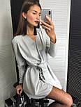 Женское платье из люрекса с поясом на запах (3 цвета), фото 4