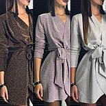 Женское платье из люрекса с поясом на запах (3 цвета), фото 7
