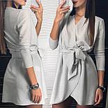 Женское платье из люрекса с поясом на запах (3 цвета), фото 5